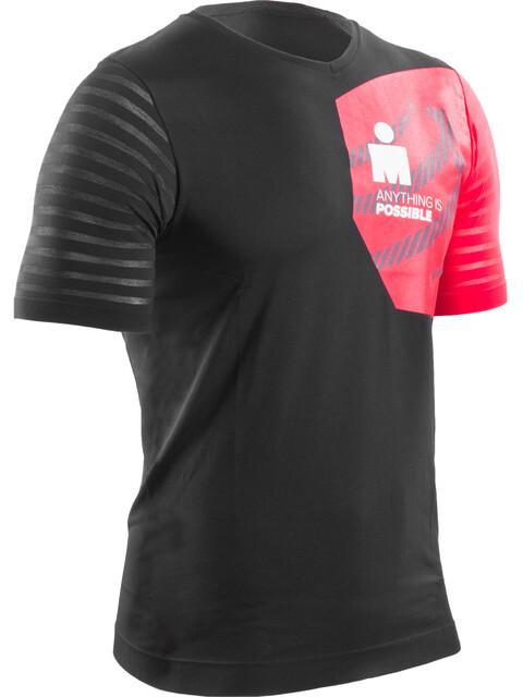 Compressport Training Lyhythihainen juoksupaita Ironman Edition , punainen/musta